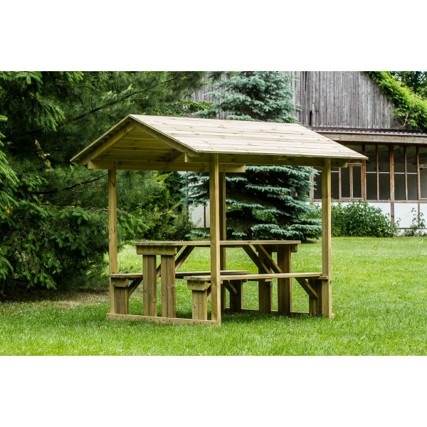 WALK IN BENCH 1,4m with roof