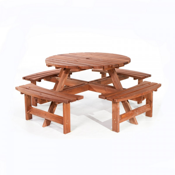 ROUND PICNIC TABLE 8 -SEATER TABLE