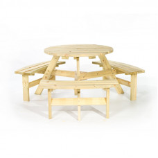 ROUND PICNIC TABLE 6-SEATER  TABLE